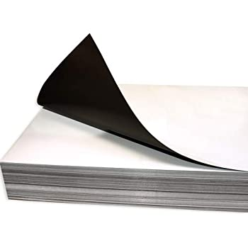 A4 Sheet VEHICLE GRADE .85 mm thick magnetic rubber sheeting White Gloss Coated
