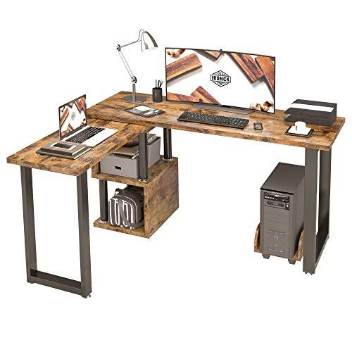 wood corner desk - 5