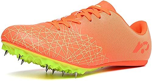 Zapatillas de Picos de Pista y Campos Profesionales Zapatos para Hombres y largas Zapatillas Deportivas de Zapatillas Deportivas (Tamaño: 5.5, Color: Negro) (Color : D, Size : 41 EU)