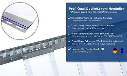 PVC Streifenvorhang Lamellen 2x200mm – H2,00 x B1,05 m – fertig vormontiert – VZ - 8