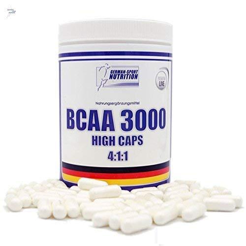 BCAA Kapseln 4:1:1 - Hochdosiert Aminosäuren BCAAs 240 Caps mit 1100mg / Kapsel ( L-Leucin, L-Isoleucin, L-Valin )