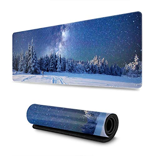 Milky-Way Mousepad Non-Slip Rubber Gaming Mouse Pad Mouse Pads for Computers Laptop 11.8 X 31.5 in