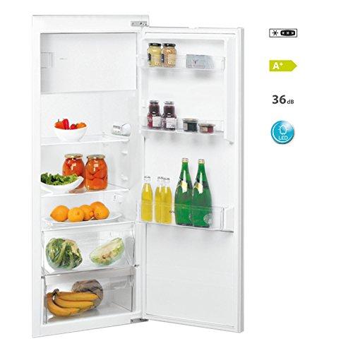 IGNIS ARL 8160 A+ Einbau-Kühlschrank mit Gefrierfach/140 cm Höhe/218 kWh/Jahr/Gesamtnutzinhalt 187 Liter/Gefrierteil 31 Liter/Leise mit nur 36 dB/LED Licht/Besonders energiesparend A+/weiß
