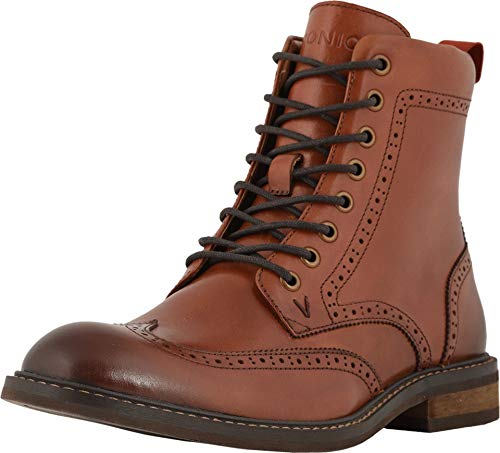 Vionic Men's Bowery Wesley Lace Up Boot Chestnut 9 M US