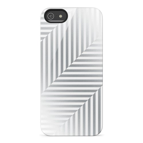 Belkin Shield Pinstripe Case / Cover for iPhone 5 and 5S (Silver)