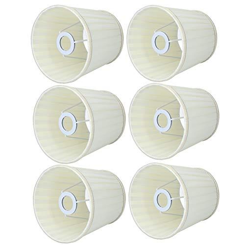Nicoone Cubierta de la lámpara de pared, 6 piezas de lámpara de araña, pantalla de lámpara de repuesto para dormitorios, pasillos, café, salas de estudio, hoteles, estudios