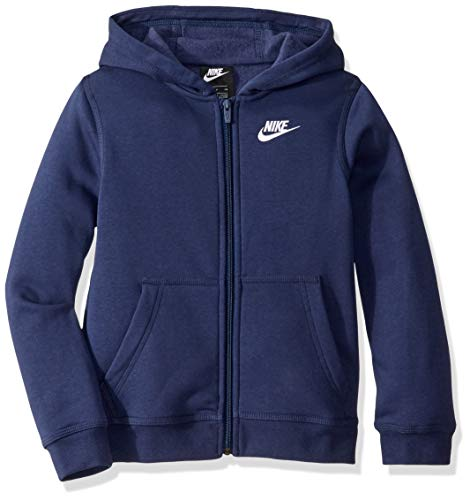 Nike Jungen Hoody Sportswear Full-Zip Club, Midnight Navy/Midnight Navy/White, L, BV3699-410