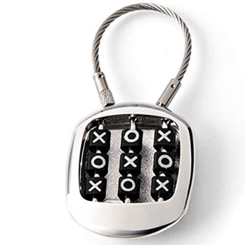 SILBERKANNE Porte-clés jeu Tic Tac Toe 8 x 3 x 1 cm plaqué argent premium