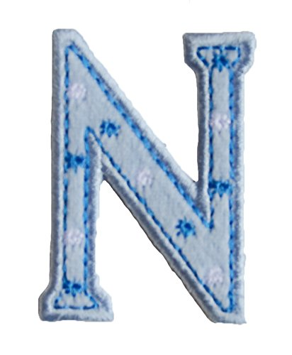 N BaBy Blue ABC letter 9cm big for clothing fabric names crafts jeans to iron on hat skirt dresses cap jacket neckerchief ceiling flag pants plate backpack trousers cushion scarf bunting bag hat door to personalise gifts for room children idea clothes kids birthday hobby fabric child letters diy nursery christening arts personally boy embroidered sports football baby baptism club city girl personalized decoration personal application mend wall applique personalise arts sewing decorating
