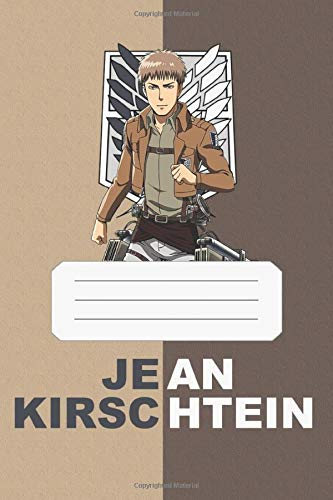 Jean Kirschtein: Attack On Titan, Jean, 112 Lined Pages, 6 x 9 in, Anime Notebook Diamond