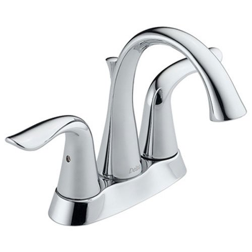 Delta Faucet Lahara 2-Handle Centerset Bathroom Faucet with Diamond Seal Technology and Metal Drain Assembly, Chrome 2538-MPU-DST