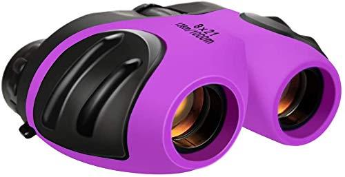 DMbaby Juguetes para Niños de 3-12 Años, Binoculares Regalos para Chicos de 3-12 Años Regalos de Cumpleaños para Niños Juguetes para Chicos De 3-12 Años Juguetes para Niñas Púrpura