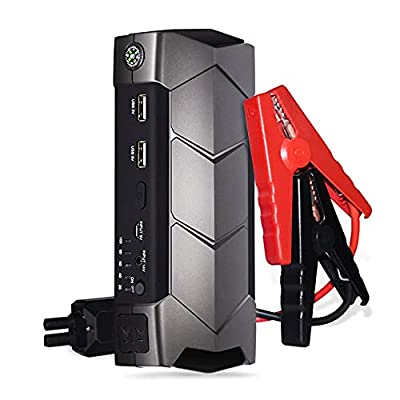 Car Battery Jump Starter 2500A Peak 22000mAh (up to 8.5L Gas/8L Diesel Engines) 12V Portable Power Pack Auto Battery Booster for Cars, Trucks, SUV with Dual USB Outputs & LED Light