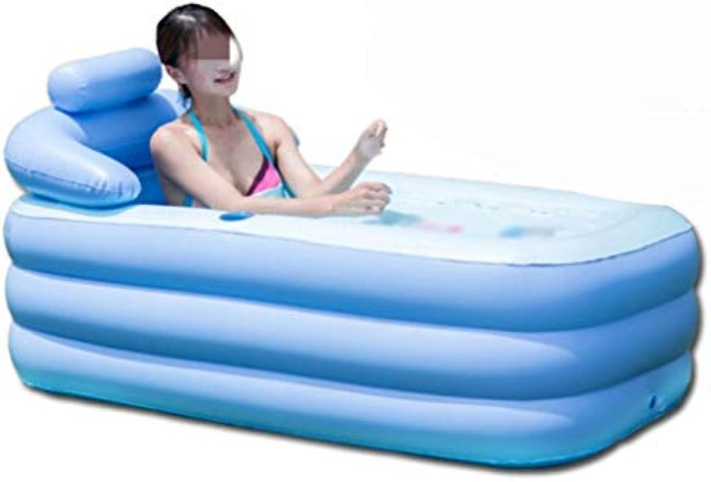 Aufblasbare Badewanne Erwachsene Verdickung Kinderbecken Spielbecken Faltbare Badewanne Badewanne Badefass (Farbe   A)
