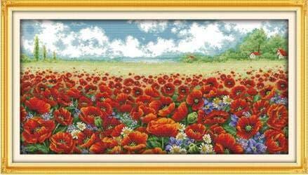 Industry Max 82% OFF No. 1 Joy Sunday Cross Stitch Kits Scenery Style 11CT Co Poppy Flowers