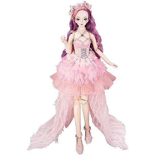 Anabei 60cm modificado muñeca regalo de cumpleaños niña juguete Bjd dressup
