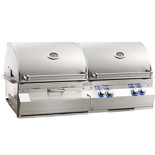 Fire Magic Aurora A830i Built-in Dual Propane Gas And Charcoal Combo Bbq Grill With Rotisserie - A830i-6eap-cb Grills Propane