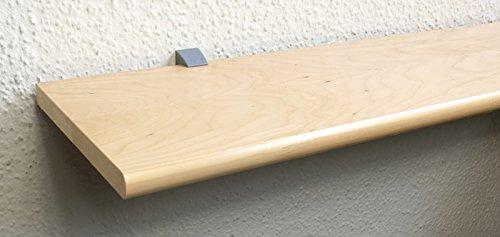 Wandregal Holzregal Board Ablage Ahorn Furnier 80x20 cm CLIP19 Silbergrau - 2 Regale
