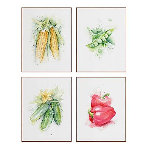 LAMINAHOME Set de cuatro laminas decorativas para enmarcar. Cuadros Decorativos Grandes 30x40 cm. Posters decoración hogar dibujo artístico, comida, cocina, alimentos saludables (2)