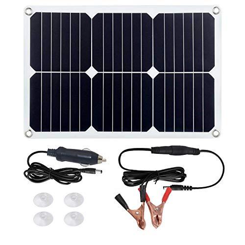Betop-camp Solar Panel Battery Maintainer 18V 12V 18Watt Zigarettenanzünder Stecker, Batterie-ladeclip-Linie, Saugnäpfe, Batterie-Betreuer für Motorrad