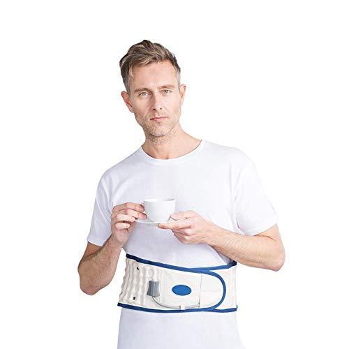 Cinturón Trasero de descompresión con Bomba de Mano, Correas de Soporte Ajustables inflables para Alivio del Dolor Lumbar y Soporte Lumbar