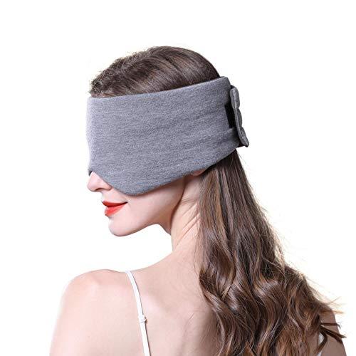 JOBYNA Schlafmaske für Frauen Männer, Hautfreundlich Modal Augenmaske, 100{7ec083161693a1f4055943863f76c0fda12d78074e51052b6197130ad46e5a4b} Lichtblockierend Konturierte Schlafbrille Bequeme Augenbinde mit Aufbewahrungstasche für Reisen/ Nickerchen/Yoga (Hellgrau)