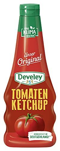 DEVELEY Tomaten Ketchup - 500 ml Squeeze-Flasche - Unser Original – extra tomatig mit 73% Tomatenanteil - 100% natürliche Zutaten