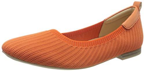 CAPRICE Damen KENDRAFLY Geschlossene Ballerinas, Orange, 38 EU