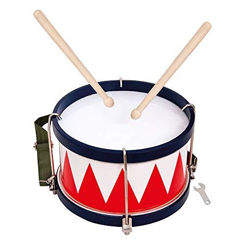 Bino Trommel, Spielzeug für Kinder ab 3 Jahre, Kinderspielzeug (Musikinstrument für Kinder inklusive Tragegurt, 2 Trommelschlegel & Stimmschlüssel, optimal an Kinderhände angepasst), Mehrfarbig