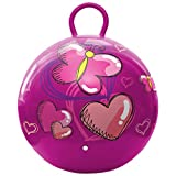 Hedstrom Hearts and Butterflies Hopper Ball, Kid's Ride On, Bouncy Ball, 18 Inch