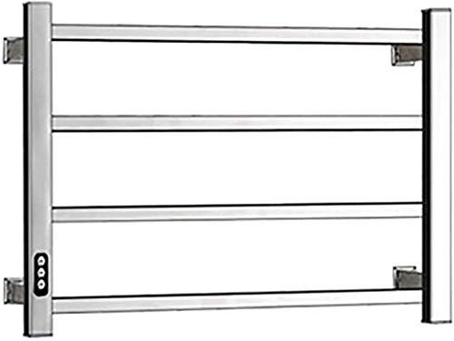 Toallero eléctrico Railleñas de toallas con calefacción Calentador de toallas, Toalla eléctrica, Toallero de secado de toalla portátil con calefacción recto, Radiador de baño de acero inoxidable con r