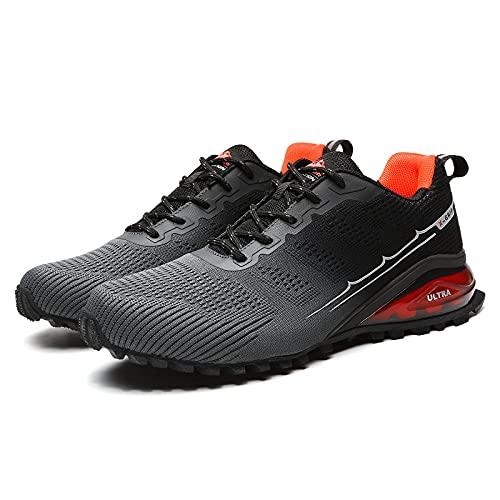 Aerlan Gym Shoes Lightweight Shoes,Calzado Casual para Correr para Hombre al Aire Libre, Zapatos para Hombre, Zapatos para Caminar, Zapatos para Caminar-Gray_44,Botas de montaña Deportivas