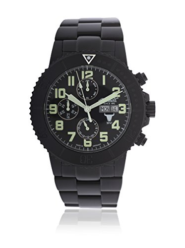 Ingersoll Herren-Armbanduhr XL Chronograph Automatik Edelstahl beschichtet IN1304BKGR