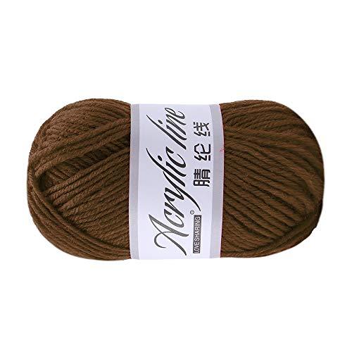Xisimei Premium Lana de lana 100% acrílico, fácil de procesar, versátil, cálida, suave, no pica, 50 g, aprox. 140 m, antracita, multicolor (H)