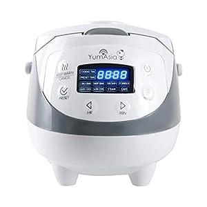 Yum Asia Panda Mini-Reiskocher mit Keramikschale und Advanced Micom Fuzzy Logic (YUM-EN06) 4 Reiskochfunktionen, 4 Multischooker-Funktionen, Motouch LED-Display (0,6 litre) 220-240 V UK/Europa Power