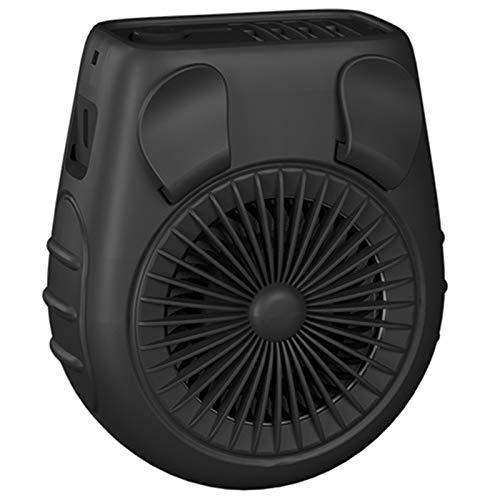 NEYOANN 5000MAh Clip de Cintura Personal con Pilas Ventilador de Correa PortáTil, Ventilador USB Recargable de 3 Velocidades, Silencioso Ventilador de Enfriamiento