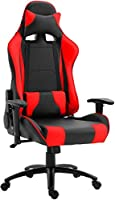 Mahmayi Gumi 09854 High Back Video Gaming Chair – PU Leatherette Upholstered Ergonomic 360 Swivel Game Chair with Lumbar...