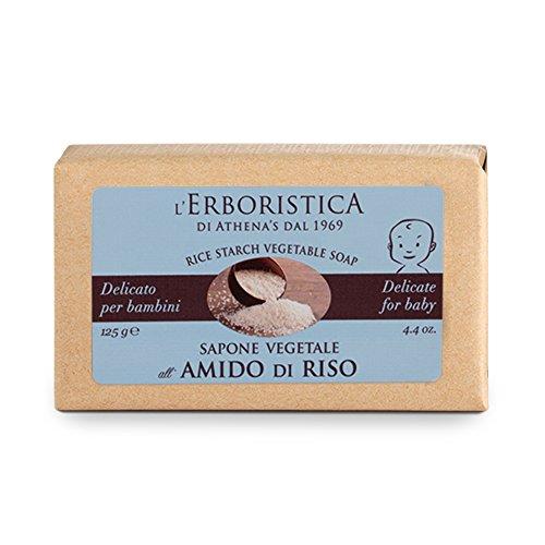 L'Erboristica di Athena's dal 1969, Sapone vegetale di Amido di Riso 125 g.