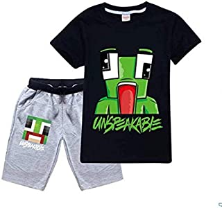 UNSPEAKABLE Unisex Children's short sleeve set, Boys short sleeve T-shirt hoodie by Sofia Clothing
