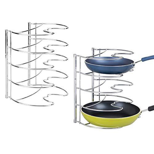 mDesign Juego de 2 organizadores de sartenes – Elegantes accesorios para muebles...
