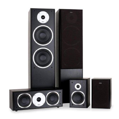 Eltax Universe 5.0 Surround Lautsprechersystem (2x Satellitenlautsprecher, 1x Centerlautsprecher, 2x Standlautsprecher)