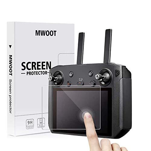 MWOOT 3 Stück Schutzfolie aus Panzerglas für DJI Mavic 2 Pro/Zoom Smart Fernsteuerung Bildschirm Schutz, 9H Härte Kratzfest Schutzglas für DJI Smart Controller von DJI Mavic 2 (Pro/Zoom)