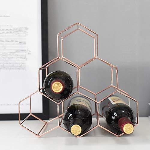 Wine Rack Wine Storage Holder 6 Flaschen Weinregal Free Stand Weinregal,rosegold