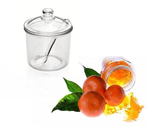 Kerafactum - Recipiente para mermelada, recipiente para mermelada, recipiente para mermelada, recipiente para mermelada, con cuchara.