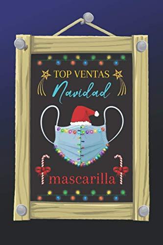 TOP VENTAS NAVIDAD MASCARILLA: CUADERNO DE NAVIDAD. BLOC DE NOTAS. LIBRETA DE APUNTES. DIARIO PERSONAL O AGENDA. REGALO NAVIDEÑO, CUMPLEAÑOS O HUMOR.
