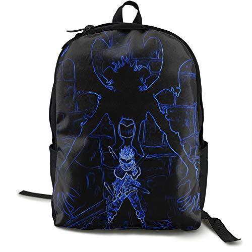Asta Devil Black Clover Ne 16.5 Inch Double Compartment Student Backpack School Bag Suitable For Boys And Girls School College Outdoor Travel