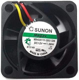 Sunon 40x40x20mm 3 pin fan #KDE1204PKVX