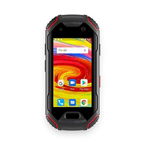 Unihertz Atom, Kleinstes 4G robust Smartphone der Welt, Android 9.0 Pie, 64GB ROM+ 4GB RAM,16MP+8MP Kamera, Fingerabdrucksensor,NFC, Wasserdicht, Staubdicht