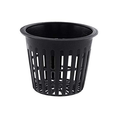 Vaso tondo a rete per coltura idroponica, confezione da 10 vasi in plastica per impianti di coltivazione
