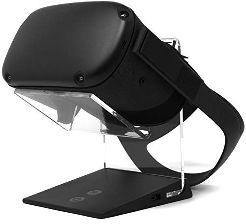 Asterion Illuminated Charging VR Stand – Universally Compatible with Oculus Quest, Quest 2, HTC Vive, Rift-s, Go, Cosmos, PSVR, Index and All Standard Sized VR Headsets | Aura